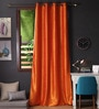Lushomes Mango Polyester 108 x 54 Inch Twinkle Star 8 Eyelets Long Door Curtain with Blackout Lining -1 Piece