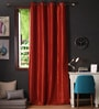 Lushomes Maroon Polyester 108 x 54 Inch Twinkle Star 8 Eyelets Long Door Curtain with Blackout Lining  -1 Piece