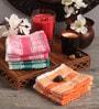 Lushomes Multicolour Cotton 10 x 10 Face Towel - Set of 20