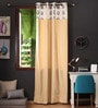 Multicolour Cotton 108 x 54 Inch Earth Printed Bloomberry Long Door Curtain with 8 Eyelets & Printed Tiebacks -1 Piece by Lushomes