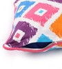 Lushomes Multicolour Cotton 16 x 16 Inch Square Printed Cushion Covers with Co-Ordinating Cord Piping - Set of 2
