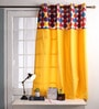 Multicolour Cotton 60 x 54 Inch Titac Printed Bloomberry Windows Curtain with 8 Eyelets & Printed Tiebacks - Set of 2 by Lushomes