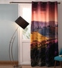 Lushomes Multicolour Polyester 54 x 90 Inch Digitally Printed Landscape Blackout Door Curtains - Set of 2