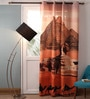 Multicolour Polyester 54 x 90 Inch Digitally Printed Pyramid Blackout Door Curtains -1 Piece by Lushomes