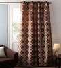 Lushomes Multicolour Jacquard 54 x 90 Inch Solid Door Curtains with Eyelets  -1 Piece