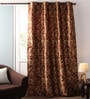 Multicolour Jacquard 54 x 90 Inch Solid Door Curtains with Lining -1 Piece by Lushomes