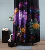 Multicolour Polyester 82 x 72 Floral Flowers Shower Curtain by Lushomes