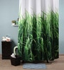 Lushomes Multicolour Polyester 82 x 72 Grass Shower Curtain