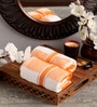 Lushomes Orange Cotton 16 x 24 Hand Towel - Set of 2