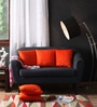 Lushomes Orange Polyester 16 x 16 Inch Embossed Blackberry Cushion Cover - Set of 5