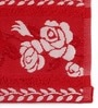 Red Cotton 16 x 24 Hand Towel - Set of 2 by Lushomes