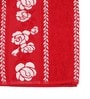 Red Cotton 24 x 48 Bath Towel by Lushomes