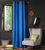 Lushomes Sky Diver Cotton 108 x 54 Inch Plain Long Door Curtain with 8 Eyelets & Plain Tiebacks  -1 Piece