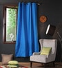 Lushomes Sky Diver Cotton 90 x 54 Inch Plain Door Curtain with 8 Eyelets & Plain Tiebacks  -1 Piece