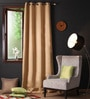 Strong Ground Polyester 108 x 54 Inch Plain Blackout Long Door Curtain with 8 Metal Eyelets -1 Piece by Lushomes