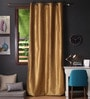 Lushomes Strong Ground Polyester 108 x 54 Inch Twinkle Star 8 Eyelets Long Door Curtain with Blackout Lining - Set of 2