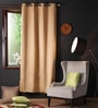 Lushomes Strong Ground Polyester 90 x 54 Inch Plain Blackout Door Curtain with 8 Metal Eyelets  -1 Piece