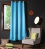 Lushomes Tac Polyester 90 x 54 Inch Plain Blackout Door Curtain with 8 Metal Eyelets  -1 Piece