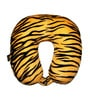Lushomes Tiger Skin Printed Polyester Yellow Neck Pillow
