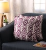 Wine Polyester 16 x 16 Inch Jacquard Cushion Covers - Set of 2 by Lushomes