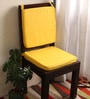 Yellow Cotton & Foam 16 x 16 Inch Half Panama Chair Pads - Set of 2 by Lushomes