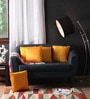 Yellow Polyester 16 x 16 Inch Cushion Covers - Set of 5 by Lushomes
