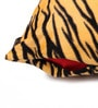 Lushomes Yellow Polyester 16 x 16 Inch Tiger Skin Printed Cushion Covers - Set of 2