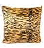 Lushomes Yellow Polyester 24 x 24 Inch Tiger Skin Printed Cushion Covers - Set of 2