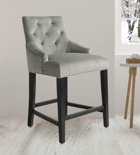 Prime Lydia Upholstered Counter Bar Stool In Grey By Twigs Direct Ocoug Best Dining Table And Chair Ideas Images Ocougorg