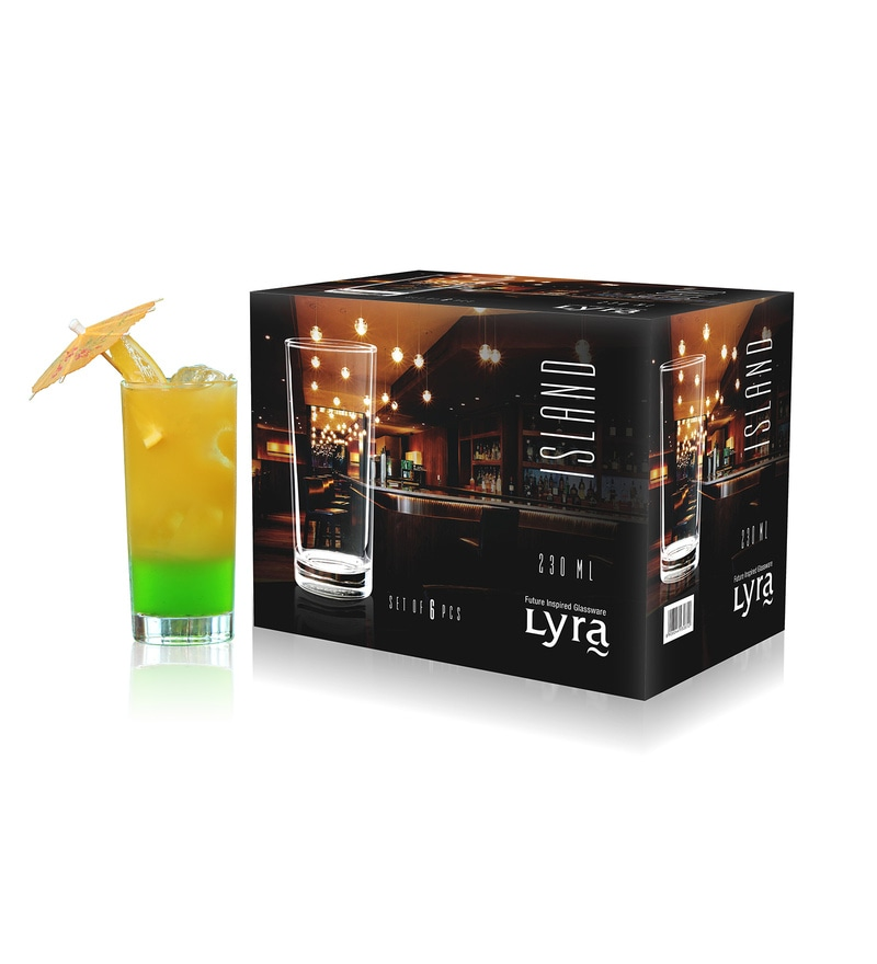 Lyra Island Hiball 230 ML Glasses - Set of 6