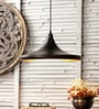 M K Lighting Black Metal Pendant