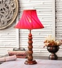 M K Lighting Brown Wood Lamp Base