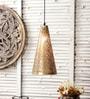 M K Lighting Gold Metal Pendant