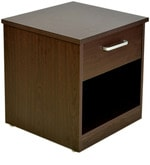 Magna Bedside Table in Walnut Finish