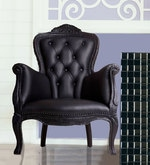 Magnificent Accent Chair in Black Leatherette