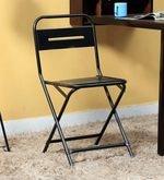 Marandoo Grunge Black Outdoor Folding Chair