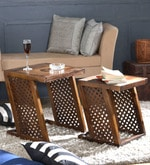 Marbella Set of Tables in Provincial Teak Finish