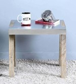 Marcel End Table in Silver Color
