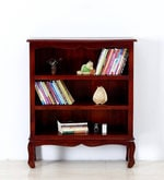 Margaret Book Shelf Cum Display Unit in Honey Oak Finish