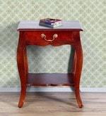 Margaret End Table in Honey Oak Finish
