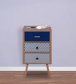 Maria Three Drawer Cabinet in Natural Wood Finish