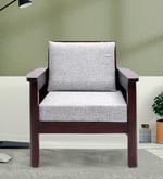 Mariana Teak Wood One Seater Sofa in Fresh Walnut Finish