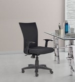 Marina Ergonomic Chair with Arms in Black Colour