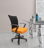 Marina Office Ergonomic Chair in Orange Colour
