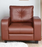 Marina One Seater Sofa in Dark Brown Colour