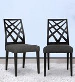 Marla Dining Chair (Set of 2) in Black Colour