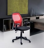 Matrix Low Back Chair in Red Colour