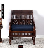 Maurya Handcrafted One Seater Sofa in Provincial Teak Finish