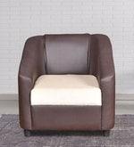 Maxima One Seater Sofa in Coffee & Beige Colour