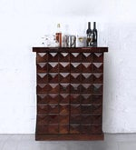 Mayville Small Bar Cabinet in Provincial Teak Finish